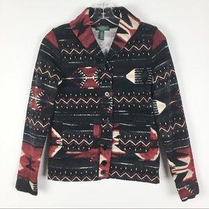 LRL Ralph Lauren Aztec Southwest Cardigan Jacket S